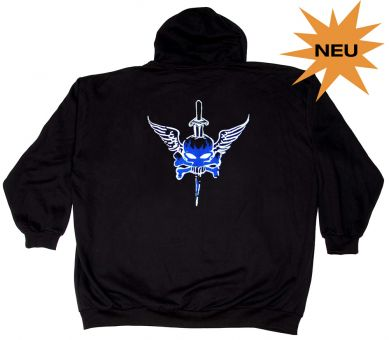 "Sudadera chaqueta con capucha ""Wings and Roses"""