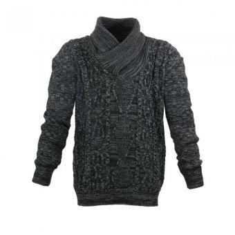 Lavecchia Jersey de punto en negro-antracita