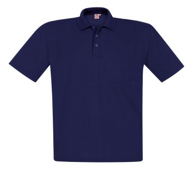 Polo piqué blu-navy 12XL