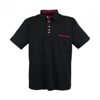 Camisa polo lavecchia básica en negro