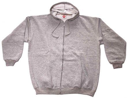 Sudadera chaqueta con capucha gris