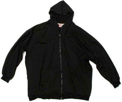 Sudadera chaqueta con capucha negro